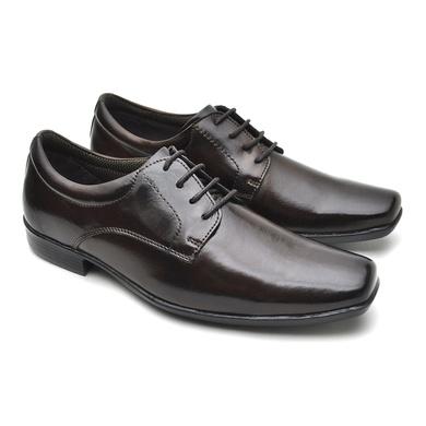 Sapato Social Fortaleza Couro com Cadarço - Café - 02603-2572 - Calçados Laroche