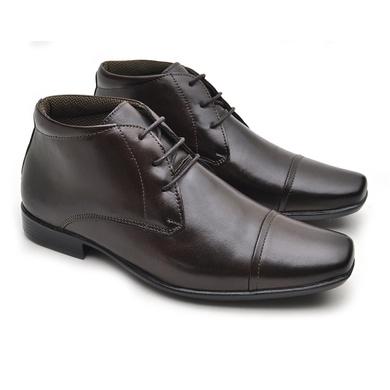 Sapato Masculino Social Fortaleza Couro - Café - 02610-2572 - Calçados Laroche