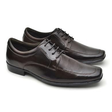 Sapato Social Fortaleza Couro Com Cadarço Café - 02615-2572 - Calçados Laroche