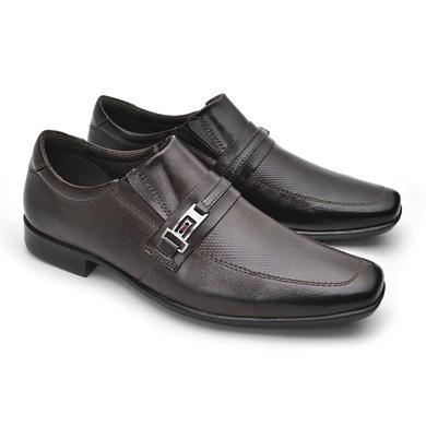 Sapato Social Fortaleza em Couro com fivela Café - 02617-2572 - Calçados Laroche