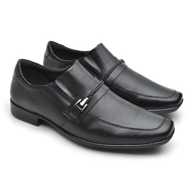 Sapato Masculino Social Fortaleza Couro - Preto - 02618-2571 - Calçados Laroche