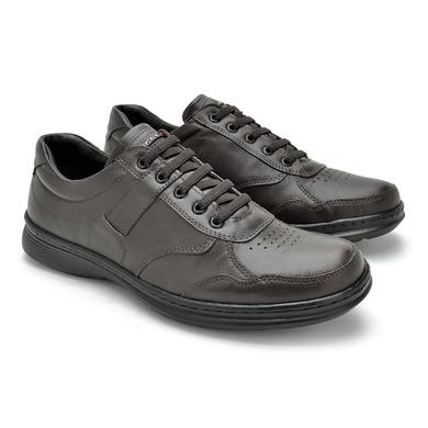 Sapato Laroche Lisboa em Couro de Carneiro - Café - 08702-1106 - Calçados Laroche
