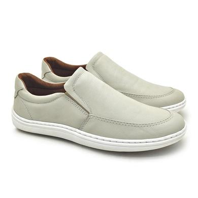 Sapato Laroche Lisboa em Couro de Carneiro - Gelo - 08706-3056 - Calçados Laroche