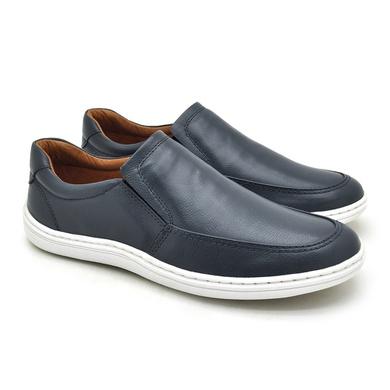 Sapato Laroche Lisboa em Couro de Carneiro - Marinho - 08706-3057 - Calçados Laroche