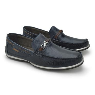 Mocassim Laroche Paraty Couro Azul - 03309-1626 - Calçados Laroche