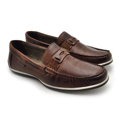 Mocassim Paraty Masculino de Couro - Brown - 03337-2908 - Calçados Laroche