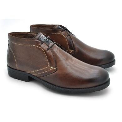 Bota Saara Masculina em Couro - Brown - 02818-1894 - Calçados Laroche