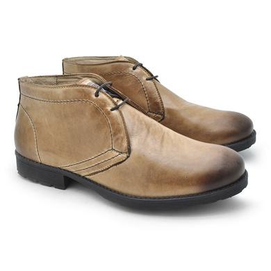 Bota Saara Masculina em Couro - Areia - 02818-1895 - Calçados Laroche