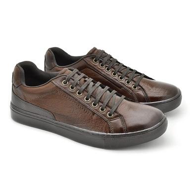 Sapatenis Casual Masculino Stratus em Couro Marrom - 07801-1924 - Calçados Laroche