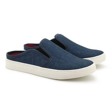 Mule Masculino Stratus Oxford Azul - 07803-2274 - Calçados Laroche