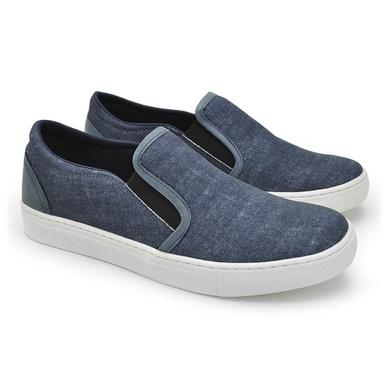 Slip On Yate Masculino Stratus Azul em Oxford - 07804-2274 - Calçados Laroche