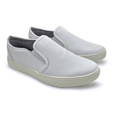 Slip On Yate Masculino Stratus Branco em Couro - 07804-3049 - Calçados Laroche