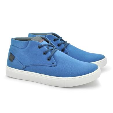 Sapatenis Botinha Stratus Eco Masculino de Lona - Azul Claro - 07831-2418 - Calçados Laroche