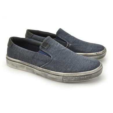 Slip Stratus Eco Masculino em Lona- Azul Jeans - 07834-2416 - Calçados Laroche