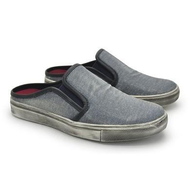 Mule Masculino Stratus Eco em Lona - Jeans - 07836-2776 - Calçados Laroche