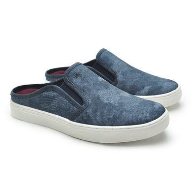 Mule Masculino Stratus Eco em Lona Jeans/Marinho - 07836-2794 - Calçados Laroche