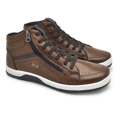 Sapatenis Zurick Masculino em Couro Marrom - 04004-1925 - Calçados Laroche