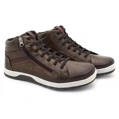 Sapatenis Zurick Masculino em Couro Chocolate - 04004-1936 - Calçados Laroche