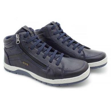 Sapatenis Zurick Masculino em Couro Azul - 04004-2215 - Calçados Laroche