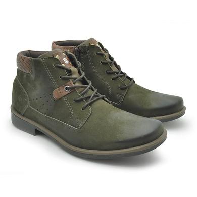 Bota Montana Masculina em Couro Verde Musgo - 04702-2281 - Calçados Laroche