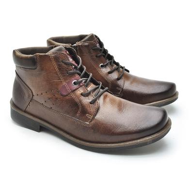 Bota Montana Masculina em Couro Whisky/Chocolate - 04702-2596 - Calçados Laroche