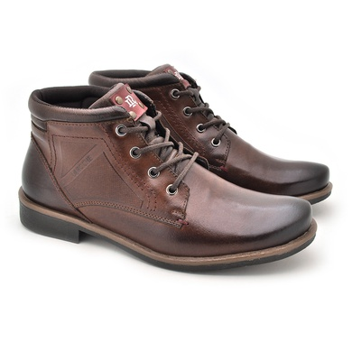 Bota Montana Masculina em Couro Whisky/Chocolate - 04703-2596 - Calçados Laroche