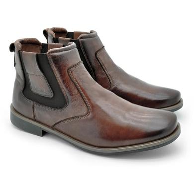 Chelsea Boots Masculina em Couro - Brown - 04705-1894 - Calçados Laroche