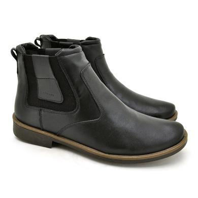 Chelsea Boots Masculina em Couro - Preto - 04705-2571 - Calçados Laroche