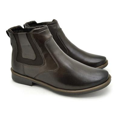 Chelsea Boots Masculina em Couro - Café - 04705-2572 - Calçados Laroche