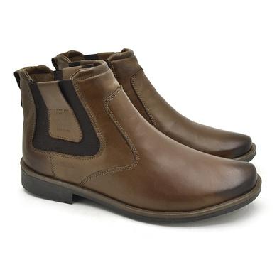 Chelsea Boots Masculina em Couro - Whisky - 04705-2573 - Calçados Laroche