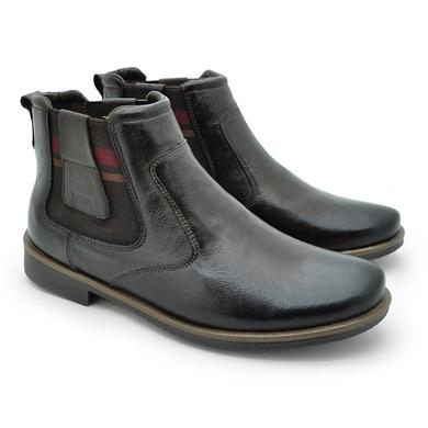 Chelsea Boots Masculina em Couro - Café - 04705-2629 - Calçados Laroche