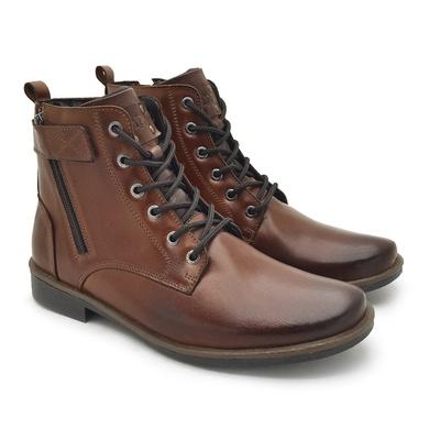 Bota Montana Masculina em Couro - Tan - 04706-2955 - Calçados Laroche
