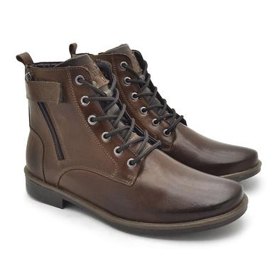 Bota Montana Masculina em Couro - Whisky - 04706-2956 - Calçados Laroche