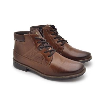 Bota Montana Masculina em Couro - Tan - 04708-2955 - Calçados Laroche