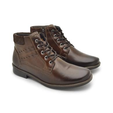 Bota Montana Masculina em Couro - Whisky - 04709-2573 - Calçados Laroche