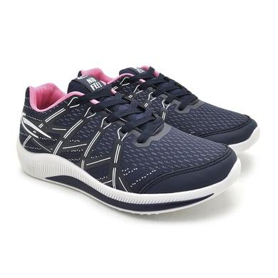 Tênis Nid Feet Nylon Feminino - Marinho/Rosa - 05671-3027 - Calçados Laroche