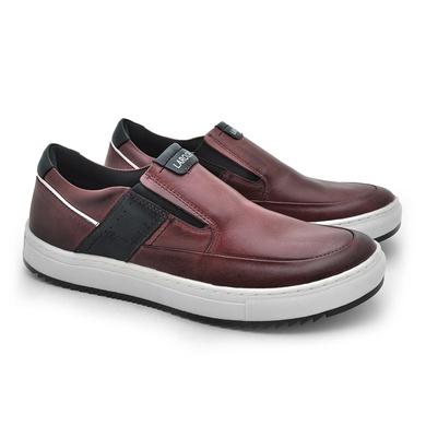 Slip Prime Masculino em Couro Vinho - 04802-2604 - Calçados Laroche