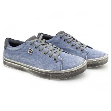 Sapatenis Stratus Eco Masculino em Lona Azul Jeans - 07832-2415 - Calçados Laroche