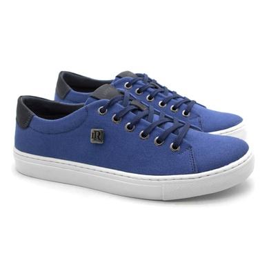 Sapatenis Stratus Eco Masculino de Lona - Azul - 07832-2418 - Calçados Laroche