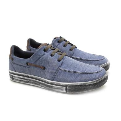 Sapatenis Stratus Eco Masculino de Lona - Jeans - 07835-2430 - Calçados Laroche