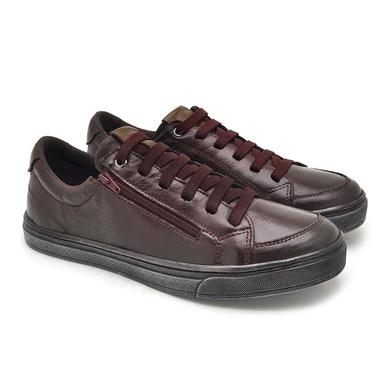 Sapatenis Masculino em couro Street - Vinho - 05601-1627 - Calçados Laroche