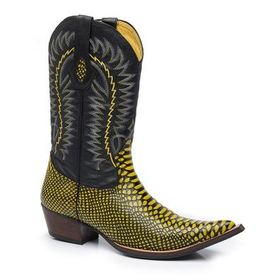 Bota Texana Bico Fino Country Masculina Anaconda P... - JMCOUNTRY