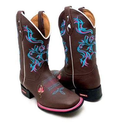 Bota Country Texana Feminina Bico Quadrado Tribal ... - JMCOUNTRY