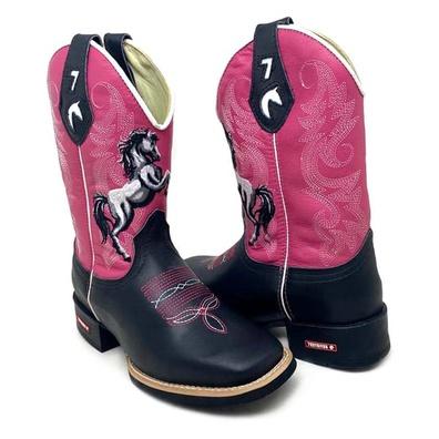 Bota Texana Feminina Cano Alto Bico Quadrado Couro... - JMCOUNTRY