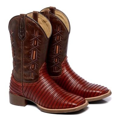 Bota Texana Masculina Bico Quadrado Casco de Tatu ... - JMCOUNTRY