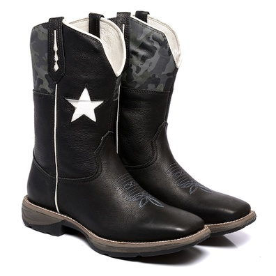 Bota Texana Masculina Bico Quadrado WorkBoot Couro... - JMCOUNTRY