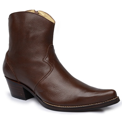 Botina Country Masculina Couro Floater Chocolate P... - JMCOUNTRY