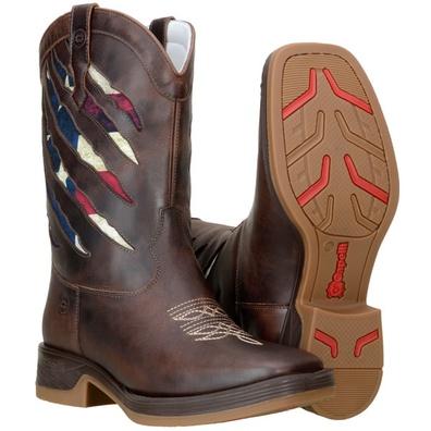 Bota Country Masculina Texana Bico Quadrado Couro ... - JMCOUNTRY