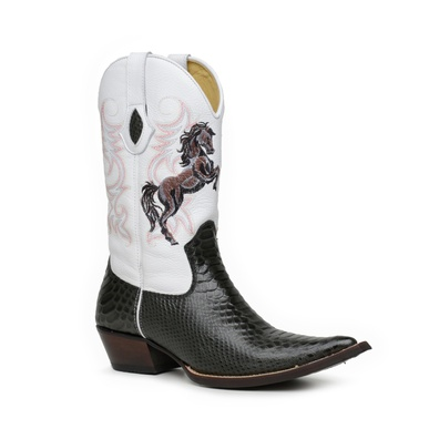 Bota Country Texana Masculina Bico Fino Anaconda D... - JMCOUNTRY