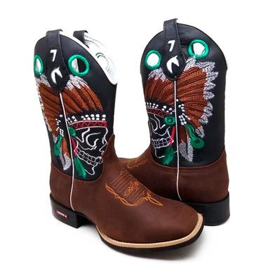 Bota Country Texana Masculina Bico Quadrado Índio ... - JMCOUNTRY